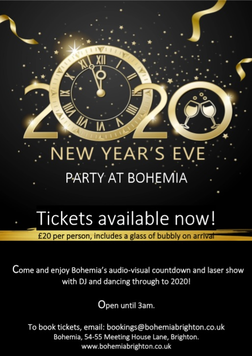 New Years Eve Bohemia Brighton